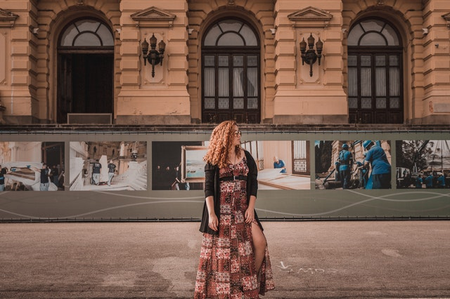 Woman standing for a photo